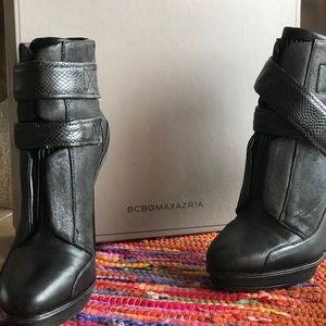 BCBGMAXAZRIA Leather Booties Sz 8